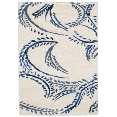 Osteen Ivory/Blue Area Rug