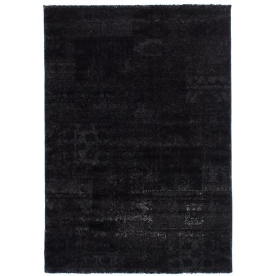 Decarlo Black/Dark Gray Area Rug