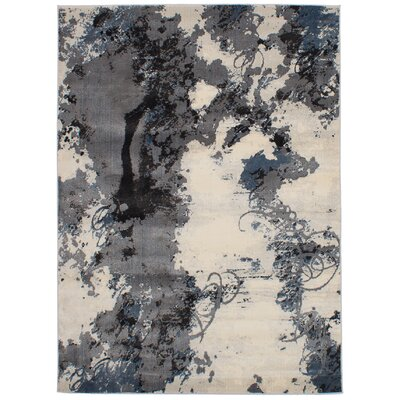 Duchene Cream/Dark Gray Area Rug