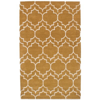 Hartland Hand-Tufted Wool/Silk Cream/Light Brown Area Rug