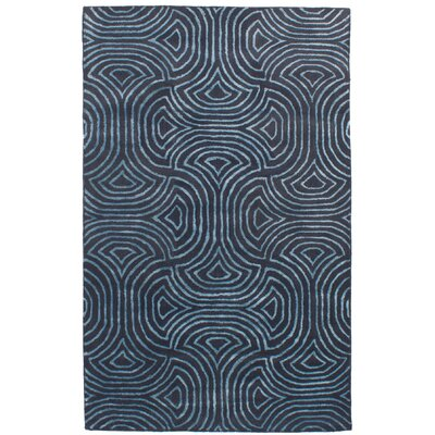 Rothbury Abstract Art Hand-Tufted Wool/Silk Dark Gray Area Rug