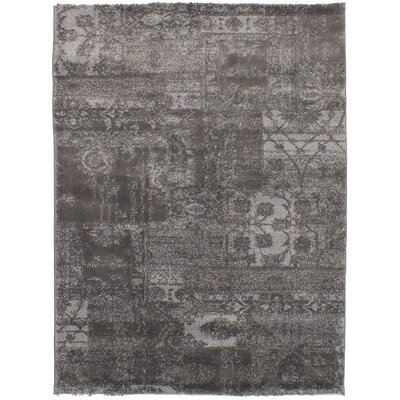 Decarlo Gray Area Rug Rug Size: Rectangle 55 x 74