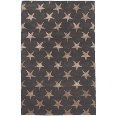 Dimattia Art Hand-Tufted Dark Gray Area Rug
