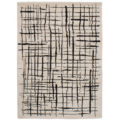 Decarlo Cream/Black Area Rug