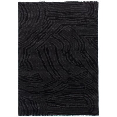 Purmerend Black/Dark Gray Area Rug