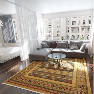 Foret Noire Tan Area Rug Rug Size: Rectangle 12'2