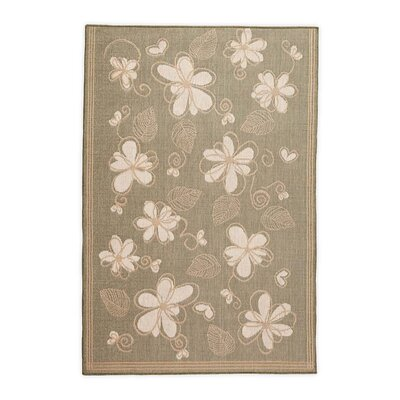 Whimsy Floral Moss Indoor/Outdoor Area Rug Rug Size: Rectangle 23 x 76