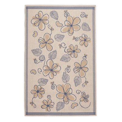 Whimsy Floral Marine Light Brown Indoor/Outdoor Area Rug Rug Size: Rectangle 23 x 76