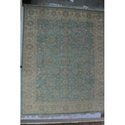 One-of-a-Kind Dundermot Hand-Knotted Wool Blue/Beige Area Rug