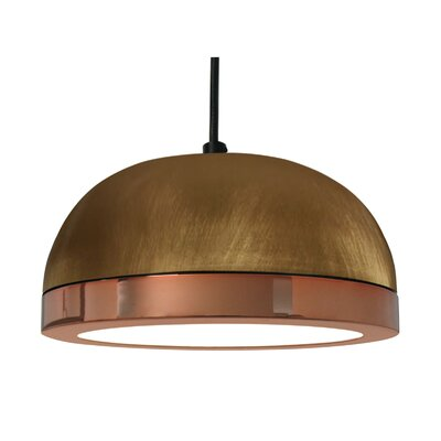 Tooy Molly 1-Light LED Inverted Pendant Shade Color: Copper, Size: 6.5 H x 15 W x 15 D