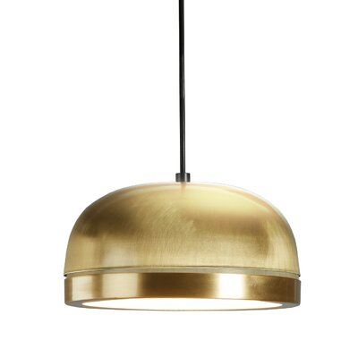 Tooy Molly 1-Light LED Inverted Pendant Shade Color: Brass, Size: 6.5 H x 15 W x 15 D