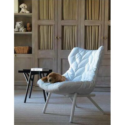 Foliage Loveseat Leg Color: Black, Upholstery: White Cloth