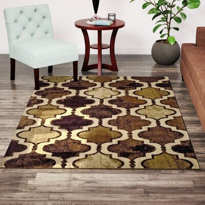 Colena Coffee Area Rug Rug Size: Rectangle 5 x 8