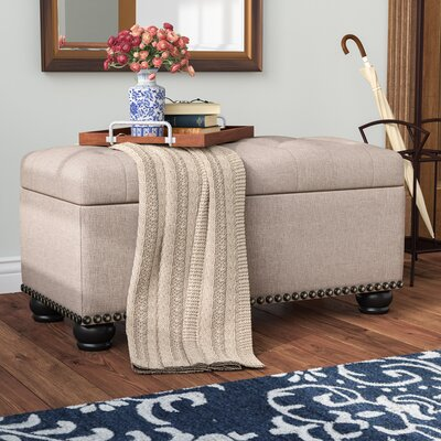 Sylvester Storage Ottoman Upholstery: Tan Fabric