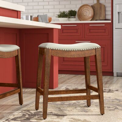 Chesterhill Bar Stool Upholstery: Cream