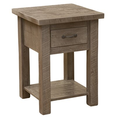 Frontier 1 Drawer Nightstand with Shelf Color: Driftwood