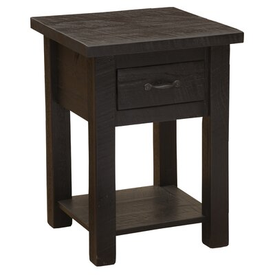 Frontier 1 Drawer Nightstand with Shelf Color: Midnight