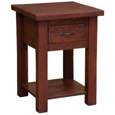 Frontier 1 Drawer Nightstand with Shelf Color: Red Canyon