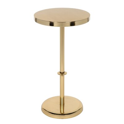 Helzer Round Metal End Table