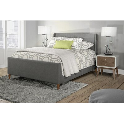 Silas Denmark Upholstered Panel Bed Size: King, Color: Charcol