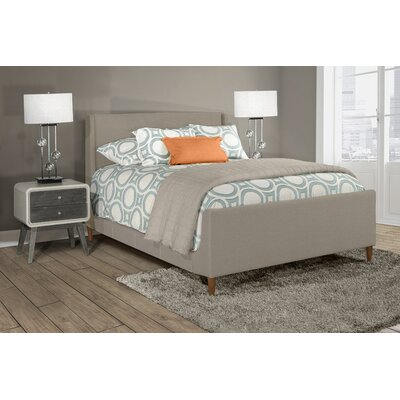 Silas Denmark Upholstered Panel Bed Size: King, Color: Gray