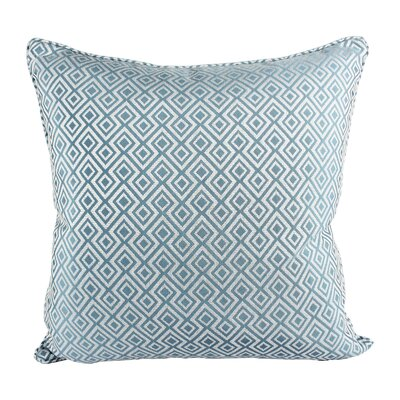 Lootens Cozy Jacquard Plaid Pillow Cover Color: Turquoise
