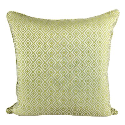 Lootens Cozy Jacquard Plaid Pillow Cover Color: Green