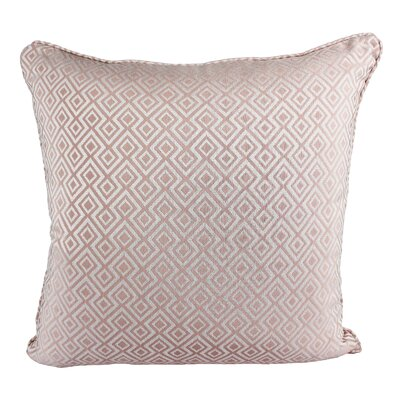Lootens Cozy Jacquard Plaid Pillow Cover Color: Pink