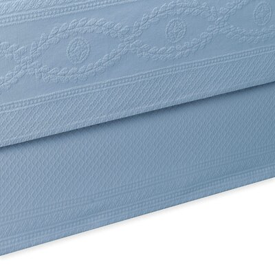 Williamsburg Abby Bed Skirt Color: Blue, Size: Twin