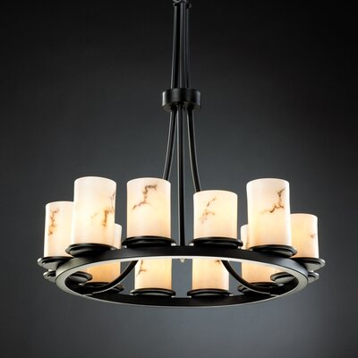 Salina 12-Light Candle-Style Chandelier Finish: Matte Black