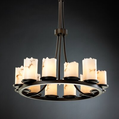 Salina 12-Light Candle-Style Chandelier Finish: Dark Bronze