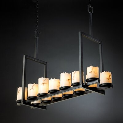 Salina 14-Light Kitchen Island Pendant Finish: Matte Black