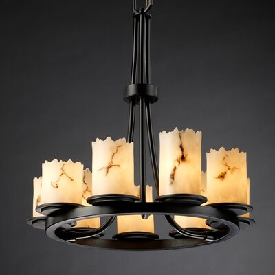 Salina 9-Light Candle-Style Chandelier Finish: Matte Black