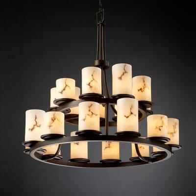 Salina 21-Light Candle-Style Chandelier Finish: Dark Bronze