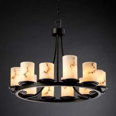 Salina 12-Light Candle-Style Chandelier Finish: Matte Black