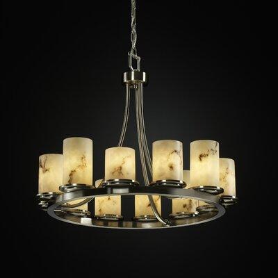 Salina 12-Light Candle-Style Chandelier Finish: Brushed Nickel