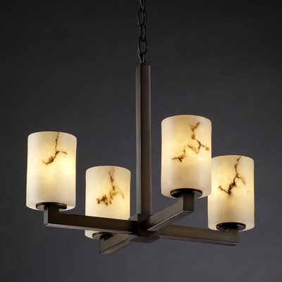 Salina 4-Light Candle-Style Chandelier Finish: Dark Bronze