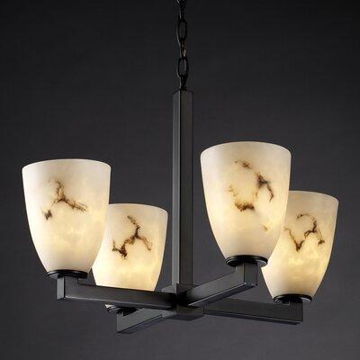 Salina 4-Light Candle-Style Chandelier Finish: Matte Black