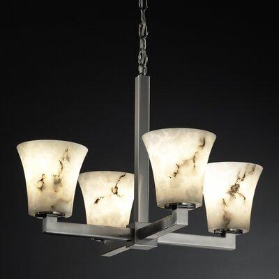 Salina 4-Light Candle-Style Chandelier Finish: Brushed Nickel