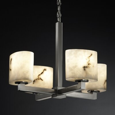 Salina 4-Light Candle-Style Chandelier Finish: Brushed Nickel