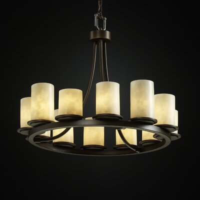 Rieth 12-Light Candle-Style Chandelier Finish: Dark Bronze