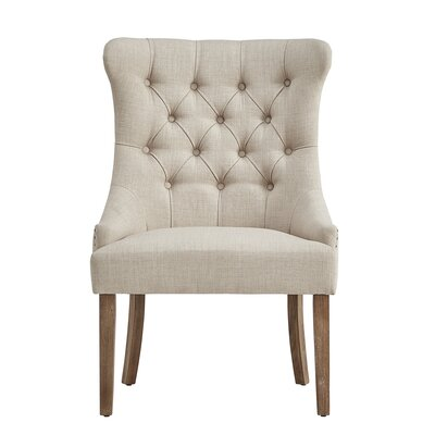 Kyzer Distressed Tufted Side Chair Upholstery: Beige