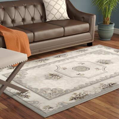 Branwen Ivory/Gray Area Rug Rug Size: 8 x 10