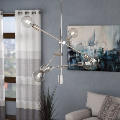 Gini 6-Light Sputnik Chandelier Finish: Polished Chrome