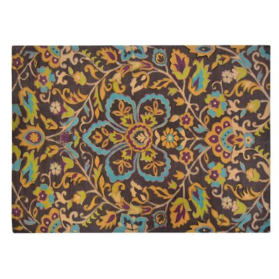 Czarnecki Floral Mess Brown/Yellow Area Rug