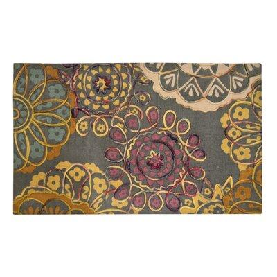 Hazelton Green/Yellow Area Rug Size: Rectangle 23 W x 38 L