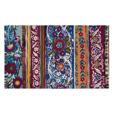 Nickens Red/Blue Area Rug