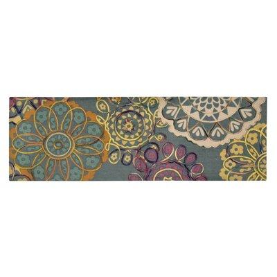 Hazelton Green/Yellow Area Rug Size: Rectangle 18 W x 5 L