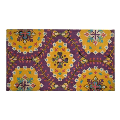 Nickols Purple/Yellow Area Rug Size: Rectangle 23 W x 38 L