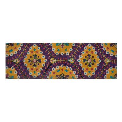 Nickols Purple/Yellow Area Rug Size: Rectangle 18 W x 5 L